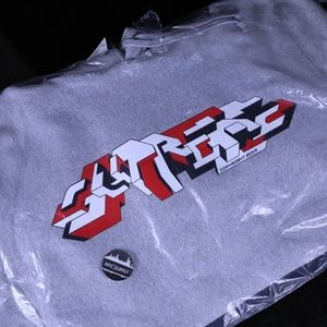 Supreme Delta Logo Hoodie Heather Grey - Medium